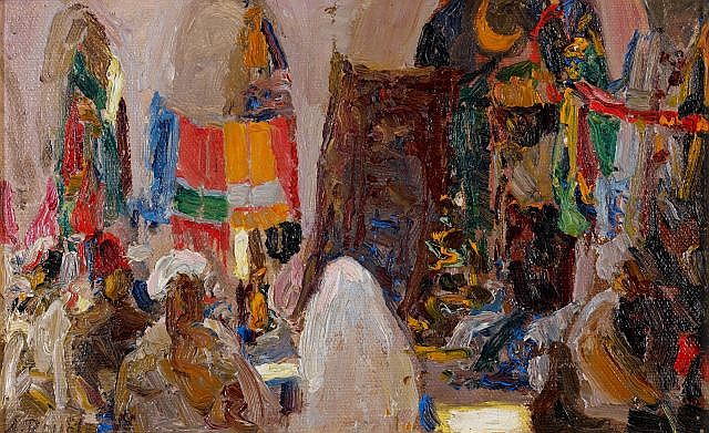 Alexandre ROUBTZOFF (Saint-Pétersbourg, 1884 - Tunis, 1949) Le Souk