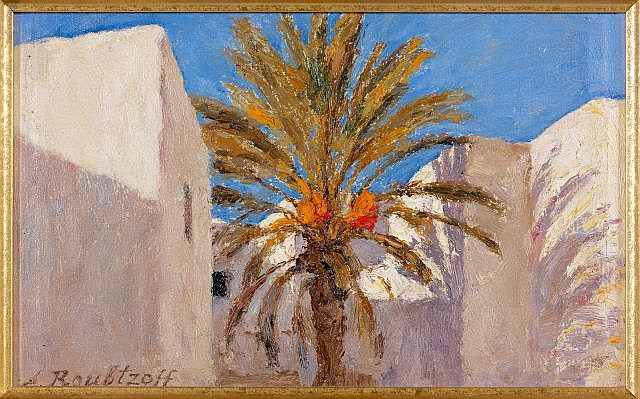 Alexandre ROUBTZOFF (Saint-Pétersbourg, 1884 - Tunis, 1949) Le Palmier