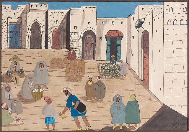 Mohammed Ben Ali R'BATI (Rabat, 1861 - Tanger, 1939) Devant les remparts