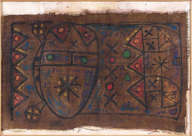 Ahmed CHERKAOUI (Boujad, 1934 - Casablanca, 1967) Composition