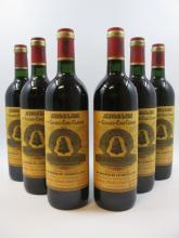 6 bouteilles CHÂTEAU ANGELUS 1996 1er GCC (B) Saint Emilion    (Cave 4)