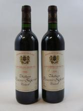 2 bouteilles CHÂTEAU BEAUSEJOUR BECOT 1996 1er GCC (B) Saint Emilion (étiquettes abimées)