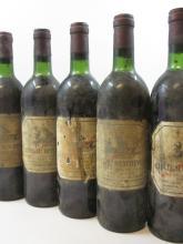10 bouteilles CHÂTEAU BEYCHEVELLE 1981 4è GC Saint Julien (étiquettes très abimées