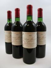 5 bouteilles CHÂTEAU BRANAIRE DUCRU 1964 4è GC Saint Julien (base goulot