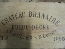 12 bouteilles CHÂTEAU BRANAIRE DUCRU 1985 4è GC Saint Julien (base goulot