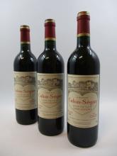 6 bouteilles CHÂTEAU CALON SEGUR 2001 3è GC Saint Estèphe  (Cave 4)