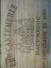 12 bouteilles CHÂTEAU CANTEMERLE 1993 5è GC Haut Médoc (2 x 6 bts) Caisses bois d''origine (Cave 22)