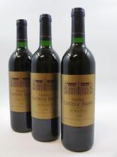12 bouteilles CHÂTEAU CANTENAC BROWN 1989 3è GC Margaux (base goulot) Caisse bois d''origine