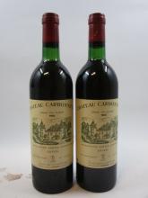 9 bouteilles CHÂTEAU CARBONNIEUX 1983 CC Pessac Léognan (base goulot