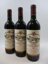 12 bouteilles CHÂTEAU CHASSE SPLEEN 1984 Moulis (base goulot) (Cave 22)