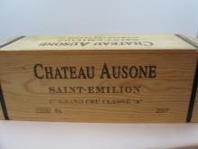 1 impériale CHÂTEAU AUSONE 2007 1er GCC (A) Saint Emilion (6 litres) Caisse bois d''origine cerclée (Cave 9)