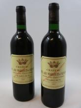 12 bouteilles CHÂTEAU BEL AIR MARQUIS D''ALIGRE 1985 Margaux  (Cave 26)