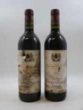8 bouteilles CHÂTEAU BEAUSEJOUR BECOT 1983 1er GCC (B) Saint Emilion (étiquettes très abimées et déchirées)