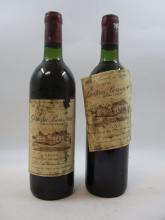 9 bouteilles CHÂTEAU BOUSCAUT 1982 Graves (base goulot