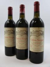 3 bouteilles CHÂTEAU CALON SEGUR 1982 3è GC Saint Estèphe (légèrement bas