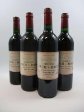 4 bouteilles 1 bt : CHÂTEAU LYNCH BAGES 1986 5è GC Pauillac (étiquette fanée)