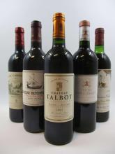 5 bouteilles 1 bt : CHÂTEAU MOUTON BARONNE PHILIPPE 1978 5è GC Pauillac (légèrement bas, étiquette tachée)