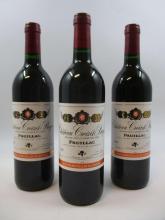12 bouteilles CHÂTEAU CROIZET BAGES 1996 5è GC Pauillac Caisse bois d'origine (inscription au marqueur)