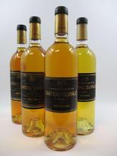 4 bouteilles 1 bt : CHÂTEAU GUIRAUD 1988 1er cru Sauternes (étiquette fanée)