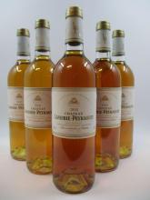 5 bouteilles CHÂTEAU LAFAURIE PEYRAGUEY 2000 1er cru Sauternes  (Cave 10)