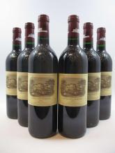 6 bouteilles CHÂTEAU LAFITE ROTHSCHILD 1996 1er GC Pauillac (étiquettes fanées
