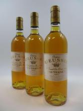 9 bouteilles CHÂTEAU RIEUSSEC 1997 1er cru Sauternes (étiquettes fanées) (Cave 11)