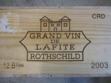 12 bouteilles CHÂTEAU LAFITE ROTHSCHILD 2003 1er GC Pauillac Caisse bois d'origine (Cave 11)