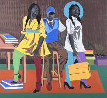 Adolf TEGA Né en 1985 - Zimbabwe Sisters at work - 2020
