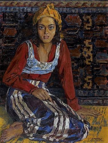 Alexandre ROUBTZOFF (Saint-Pétersbourg, 1884 - Tunis, 1949) Bédouine de Tunis, 1935 Huile sur toile