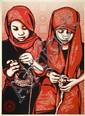 Shepard FAIREY (OBEY GIANT) (né en 1970) CLOSE KNIT, 2007 Sérigraphie en couleurs
