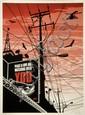 Shepard FAIREY (OBEY GIANT) (né en 1970) BIG BROTHER CITY, 2007 Sérigraphie en couleurs