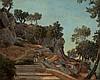 Félix-Hyppolite Lanoue Versailles, 1812 - 1872 Paysage d'Italie Huile sur toile, Félix Hippolyte Lanoue, Click for value