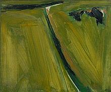 Olivier DEBRE (1920 - 1999) LE PETIT CHEMIN - 1966 Huile sur toile