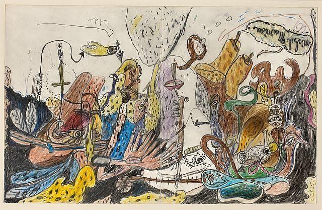 Michel MACREAU (1935-1995) ENSEMBLE DE 2 OEUVRES SUR PAPIER 28 x 44 cm
