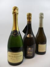 3 bouteilles 1 bt :  CHAMPAGNE AYALA 2002 Cuvée Perle Ayala