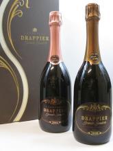 2 bouteilles 1 bt :  CHAMPAGNE DRAPPIER 2006 Grand Sandrée Rosé