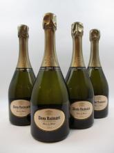 4 bouteilles CHAMPAGNE DOM RUINART 2004 Blanc de blancs