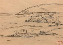 Henry MORET 1856 - 1913 Ensemble de 8 dessins Cachet de l'atelier sur chaque
