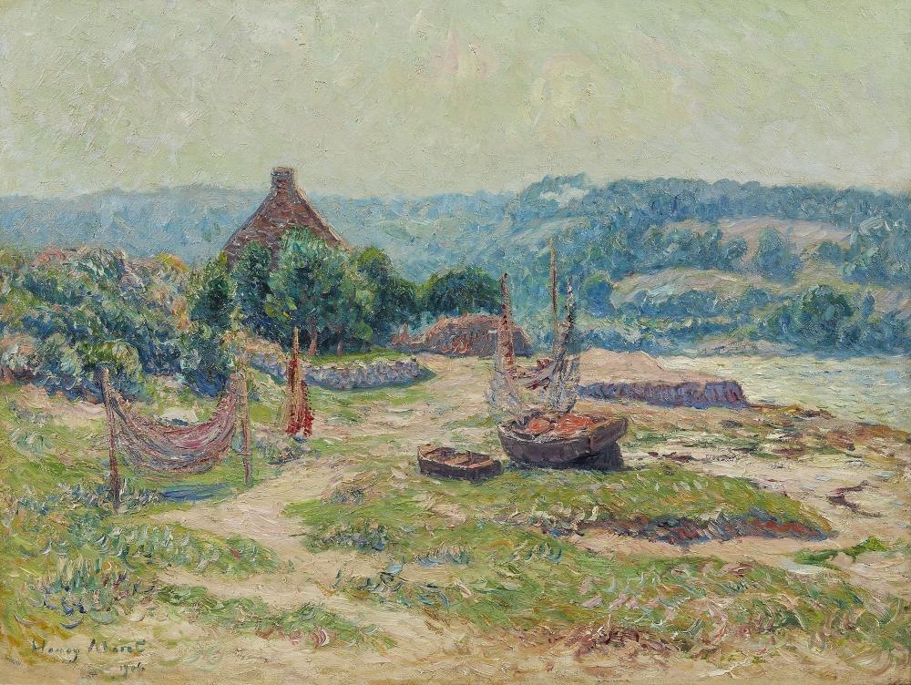 Henri Moret Paintings & Artwork for Sale | Henri Moret Art Value Price Guide