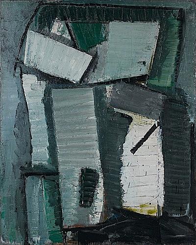 Olivier DEBRE (1920-1999) FEMME GRISE, 1956 Huile sur toile