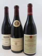 3 bouteilles 1 bt :  CORTON 2011 Clos des Cortons. Domaine Faiveley