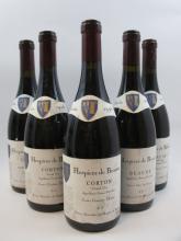 5 bouteilles 1 bt :  VOLNAY 1996 1er cru cuvée Blondeau. Hospices de Beaune. Reserve Particulière des Hospices de Beaune (étiquettes t