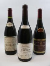 3 bouteilles 1 bt : CORTON LES PERRIERES 2009 Grand Cru. Domaine Meo Camuzet (étiquette léger tachée)