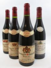 6 bouteilles 2 bts : POMMARD 2000 1er cru Pézerolles. Domaine Mussy