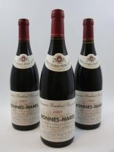 6 bouteilles BONNES MARES 2005 Grand Cru