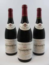6 bouteilles CHAMBERTIN 2005 Grand Cru