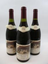 3 bouteilles CHAMBERTIN CLOS DE BEZE 1994 Grand Cru