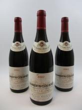 6 bouteilles CHAMBERTIN CLOS DE BEZE 2002 Grand Cru
