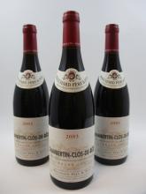 6 bouteilles CHAMBERTIN CLOS DE BEZE 2003 Grand Cru