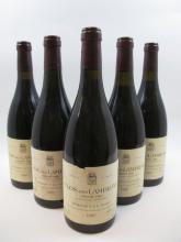 5 bouteilles CLOS DES LAMBRAYS 1990 Grand Cru